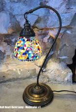 Natto Half Heart Mosaic Desk Lamp
