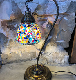Natto Half Heart Mosaic Desk Lamp