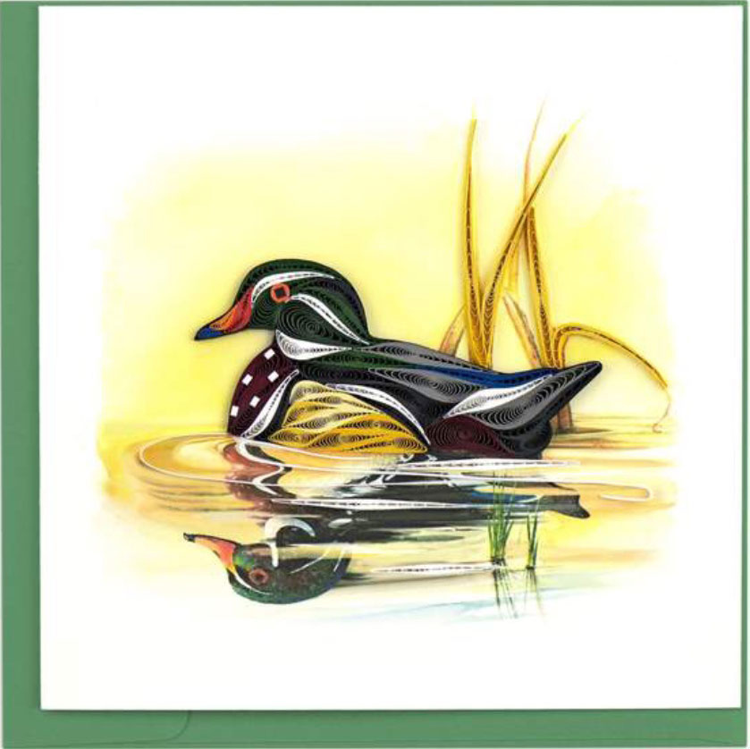 Quilling Card Wood Duck