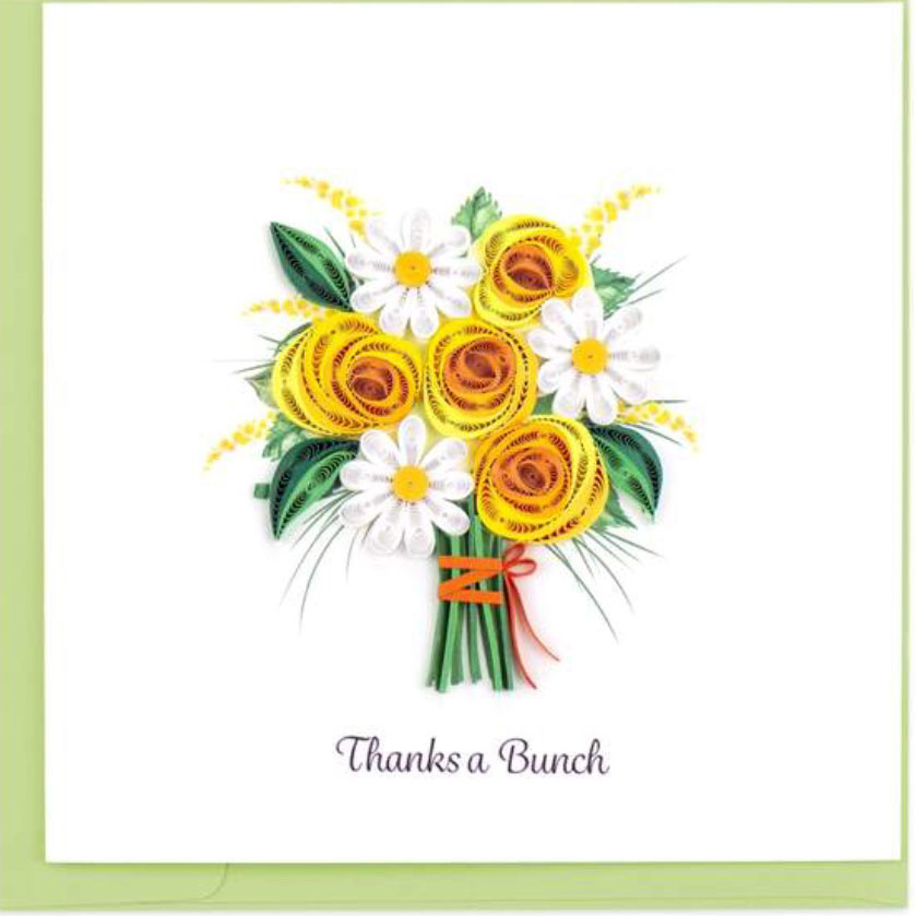 Quilling Card Thanks a Bunch