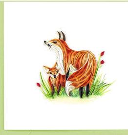Quilling Card Fox & Cub