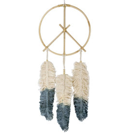 dZi Peace Feather Dreamcatcher