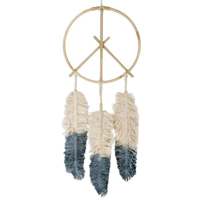 dZi Peace Feather Dreamcatcher