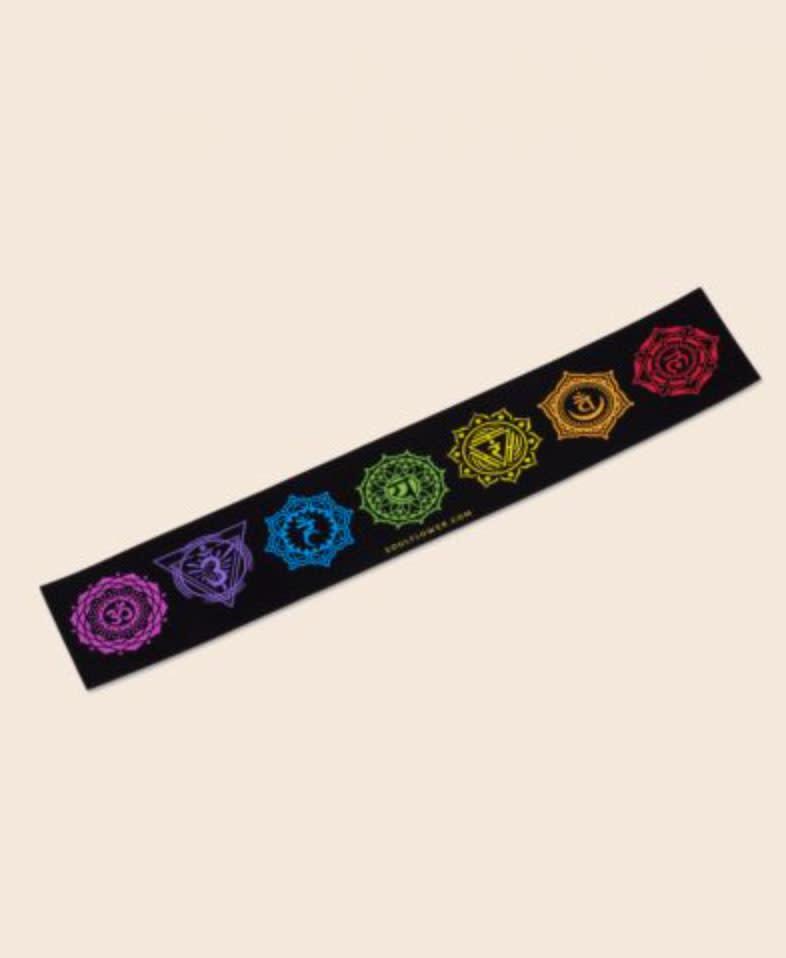 Soul Flower Rainbow Chakras Mini Bumper Sticker