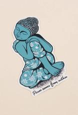 Soul Flower Peace Buddha Sticker