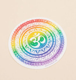 Soul Flower Rainbow OM Mandala Sticker