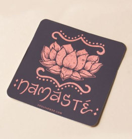 Soul Flower Namaste Lotus Sticker