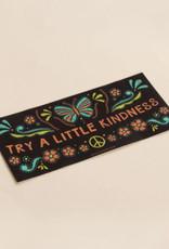 Soul Flower Try a Little Kindness Mini Bumber Sticker