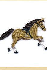Quilling Card Horse