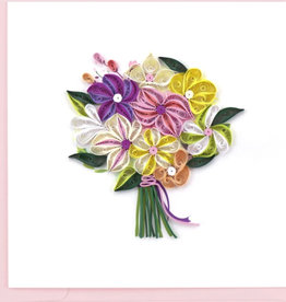 Quilling Card Floral Bouquet Quilling Card
