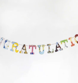 Attic Journals Recycled Book Congratulations Garland