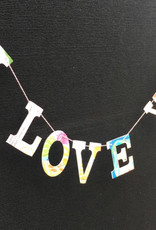 Attic Journals Recycled Book I Love You Garland