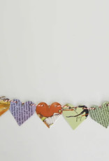 Attic Journals Recycled Book Heart Garland