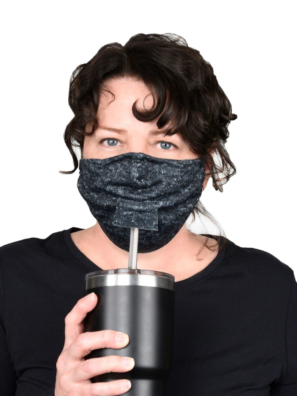 Green 3 Apparel Sippy Hole Face Mask