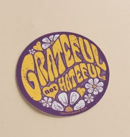 Soul Flower Grateful Not Hateful Sticker