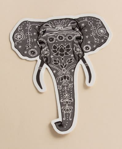 Soul Flower Painted Elephant Sticker