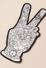 Soul Flower Peace Fingers Sticker