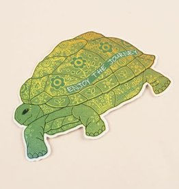 Soul Flower Enjoy the Journey Turtle Sticker