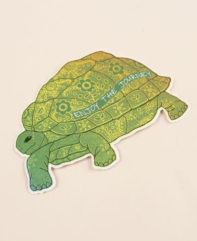 Soul Flower Enjoy the Journey Turtle Sticker