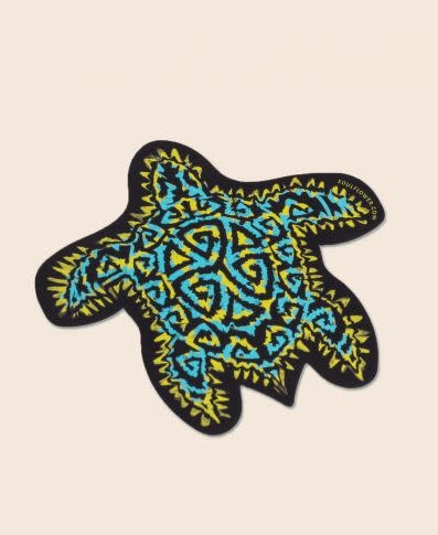 Soul Flower Trippy Turtle Sticker