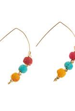 SERRV Triple Sari Bead Earrings