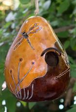 Lucuma Whimsy Dragonflies Gourd Birdhouse