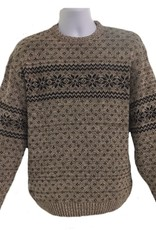 Green 3 Apparel Men's Snowflake Pullover Sweater