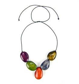Minga Imports Cinco Tagua Necklace
