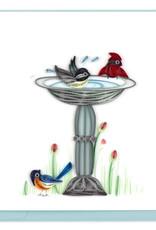 Quilling Card Bird Bath