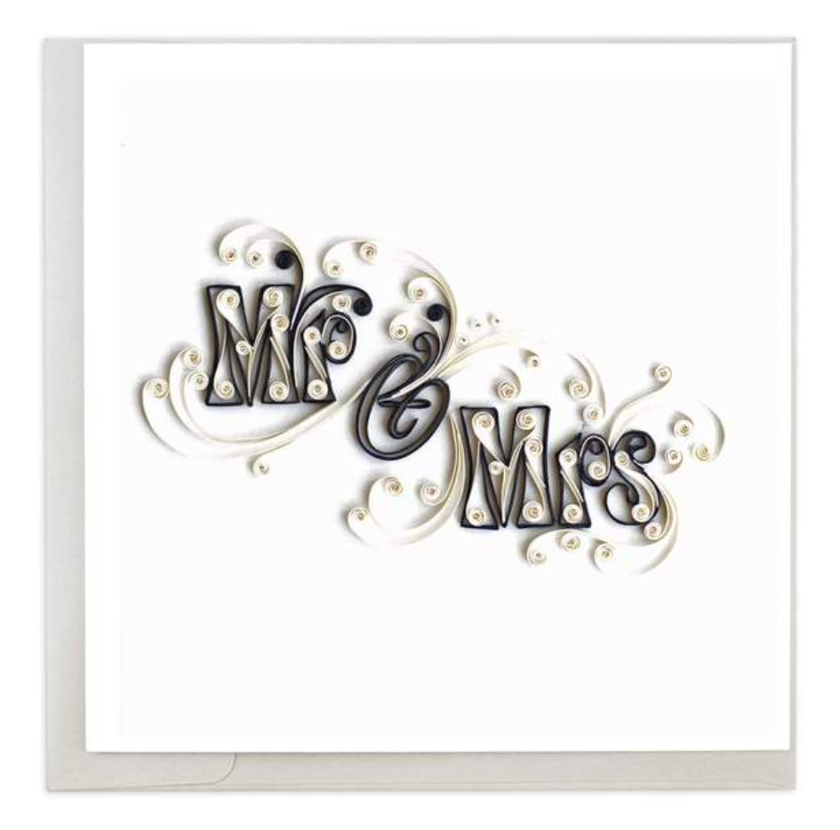 Quilling Card Mr. & Mrs.