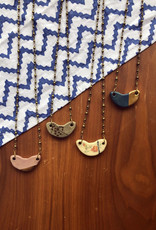 Pickled Pottery Half Moon Necklace