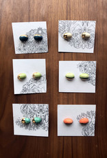Pickled Pottery Color Block Stud Earrings