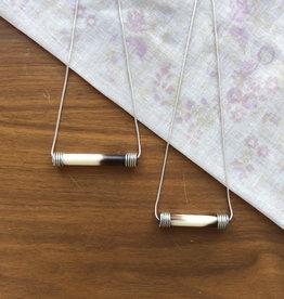 Silver Wire Wrap Quill Pendant