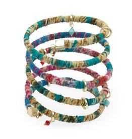 Ten Thousand Villages Spiral and Spring Bracelet