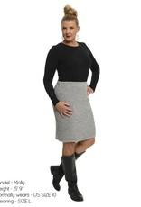 Green 3 Apparel 2x2 Rib Pencil Skirt Beige