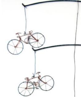 Global Crafts Recycled Bicycle Mobile