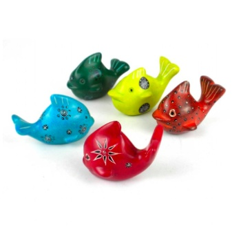 Global Crafts Mini Soapstone Whale