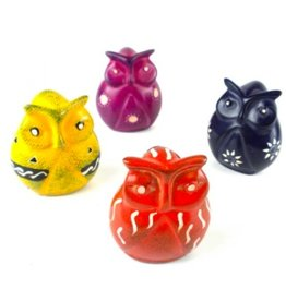 Global Crafts Mini Soapstone Owl