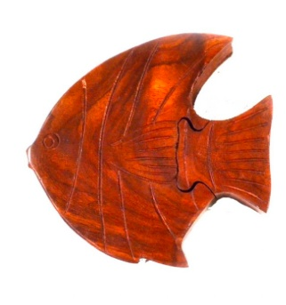 Global Crafts Fish Puzzle Box