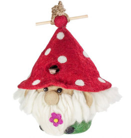dZi Felted Garden Gnome Birdhouse
