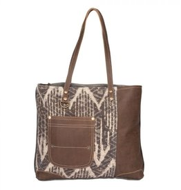 Myra Bag Brown Canvas Tote Bag