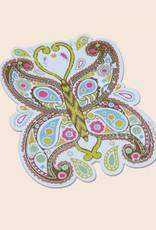 Soul Flower Paisley Butterfly Sticker