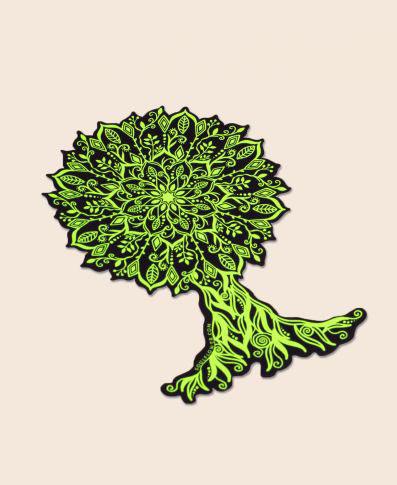 Soul Flower Mandala Tree Sticker