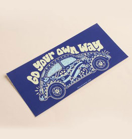 Soul Flower Go Your Own Way Mini Bumper Sticker