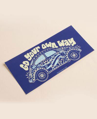 Soul Flower Go Your Own Way Mini Bumper Sticker