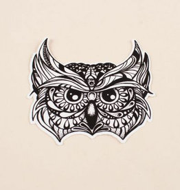 Soul Flower Owl Head Sticker