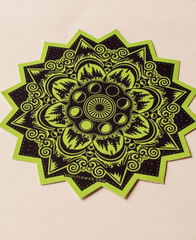 Soul Flower Mountain Mandala Sticker