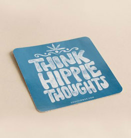 Soul Flower Think Hippie Thoughts Sticker