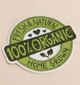 Soul Flower 100% Organic Badge Sticker