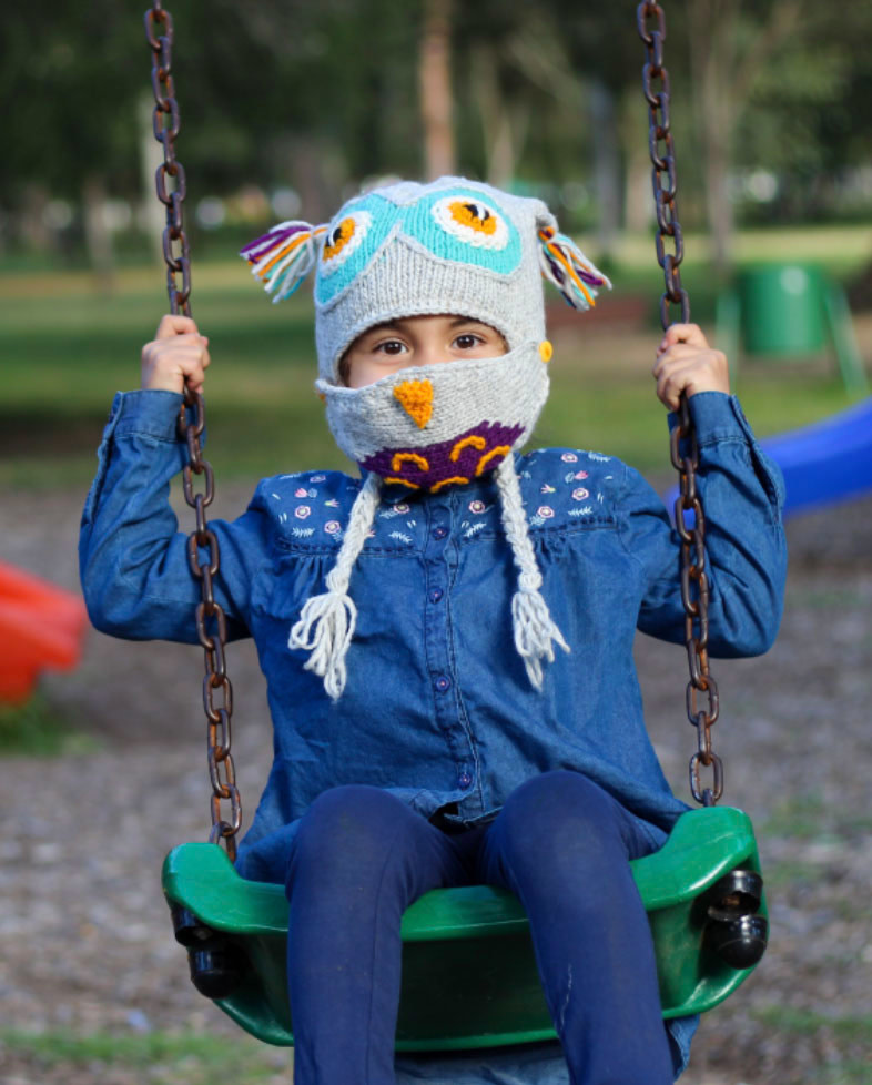 Minga Imports Kids Owl Hat with Facemask